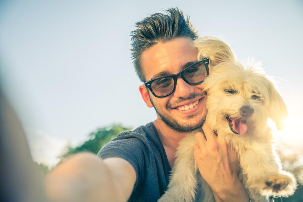 human and dog