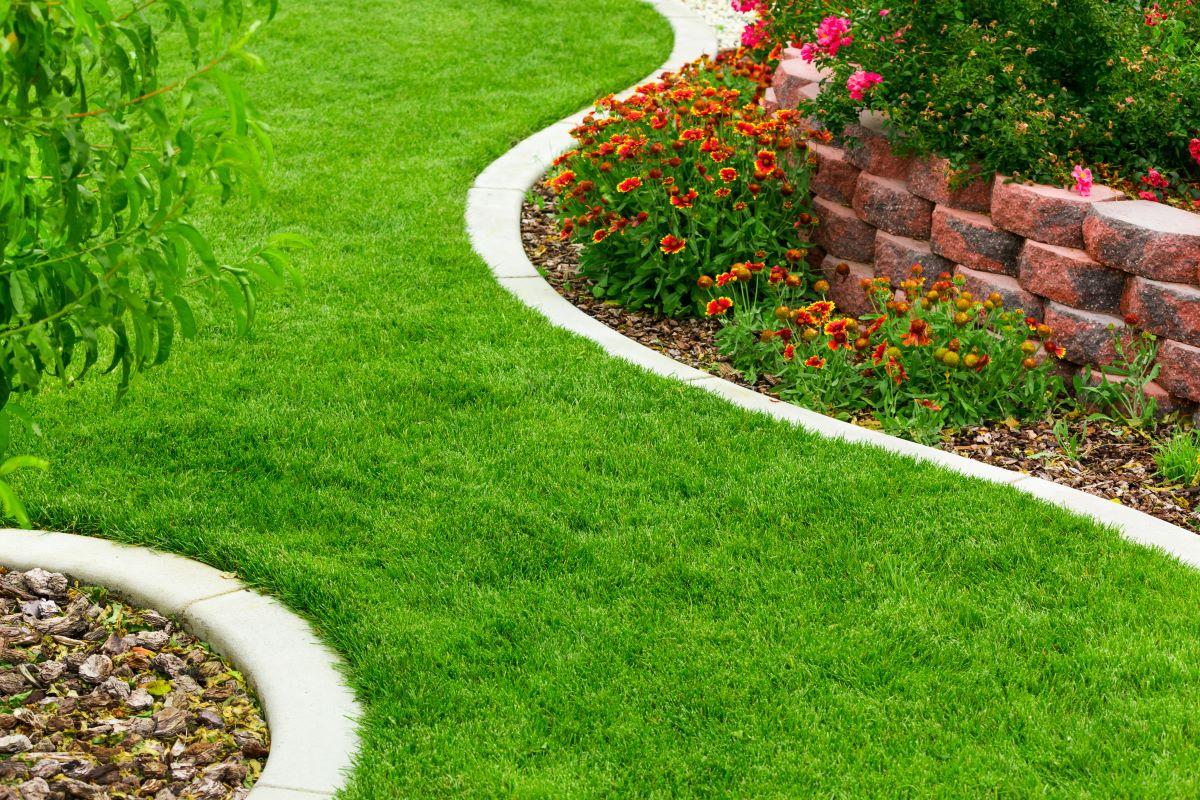 modern garden path